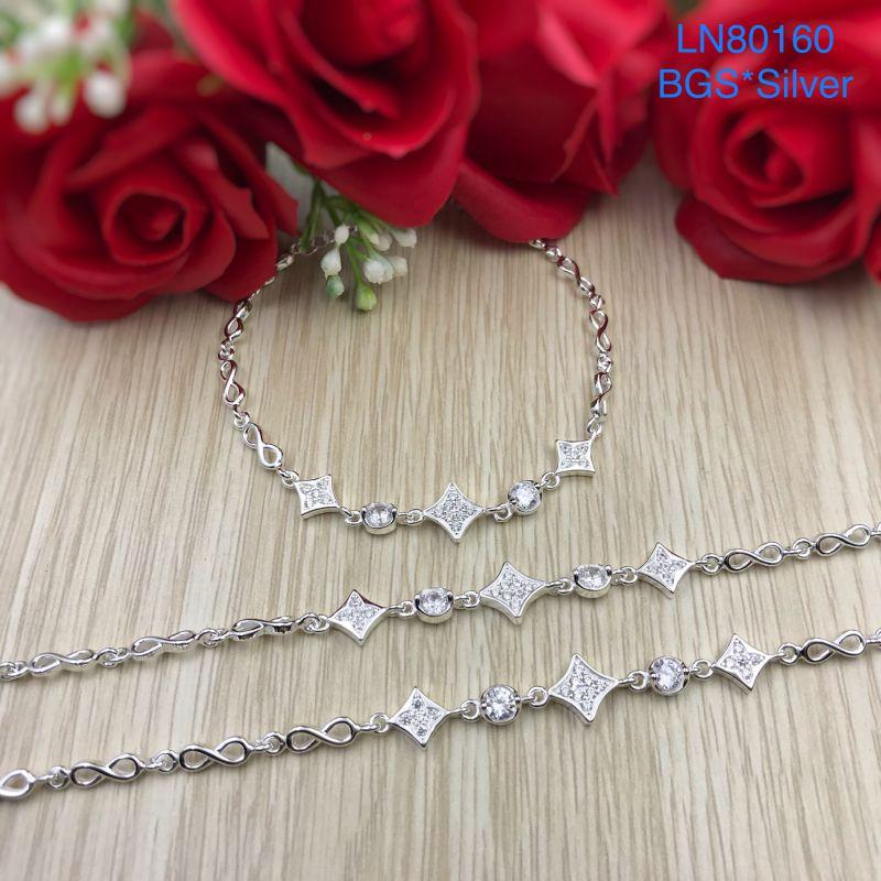 LN80160 Lắc tay bạc nữ mẫu Ý đẹp độc lạ HCM