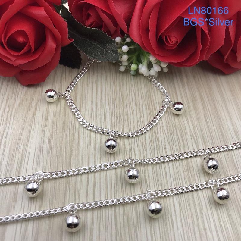 LN80166 Lắc tay bạc nữ dây lật tòn ten chuông đẹp độc lạ HCM