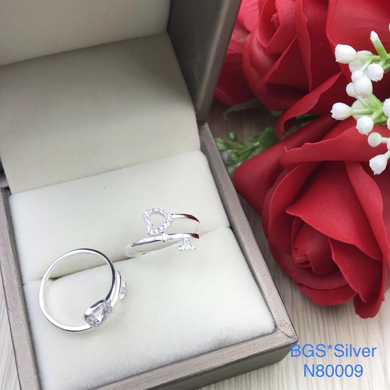 N80009 Nhẫn bạc nữ cao cấp đẹp độc lạ HCM (Freesize)