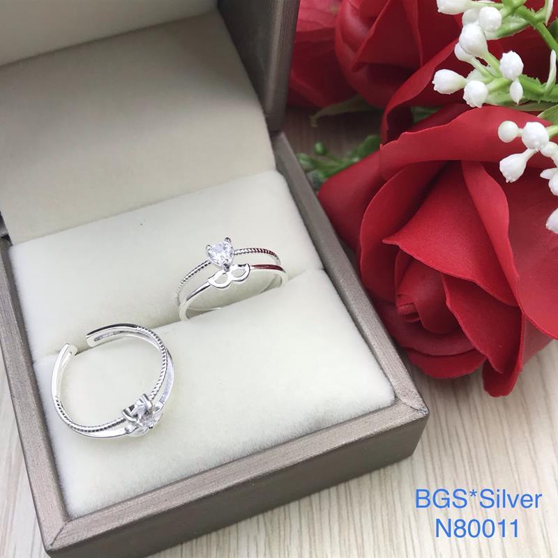 N80011 Nhẫn bạc nữ cao cấp đẹp độc lạ HCM (Freesize)