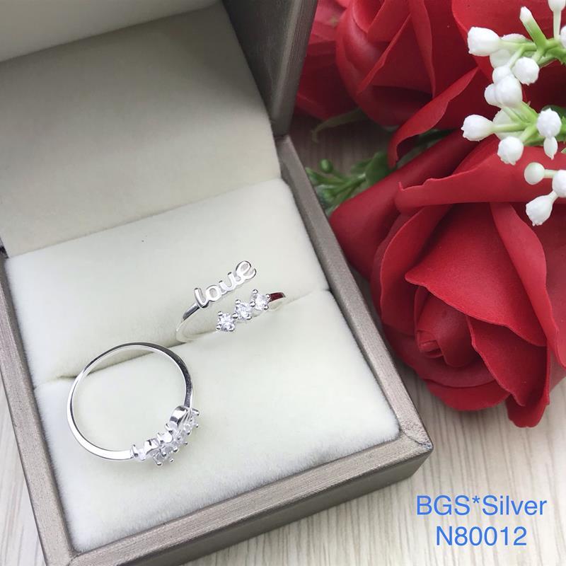 N80012 Nhẫn bạc nữ cao cấp đẹp độc lạ HCM (Freesize)