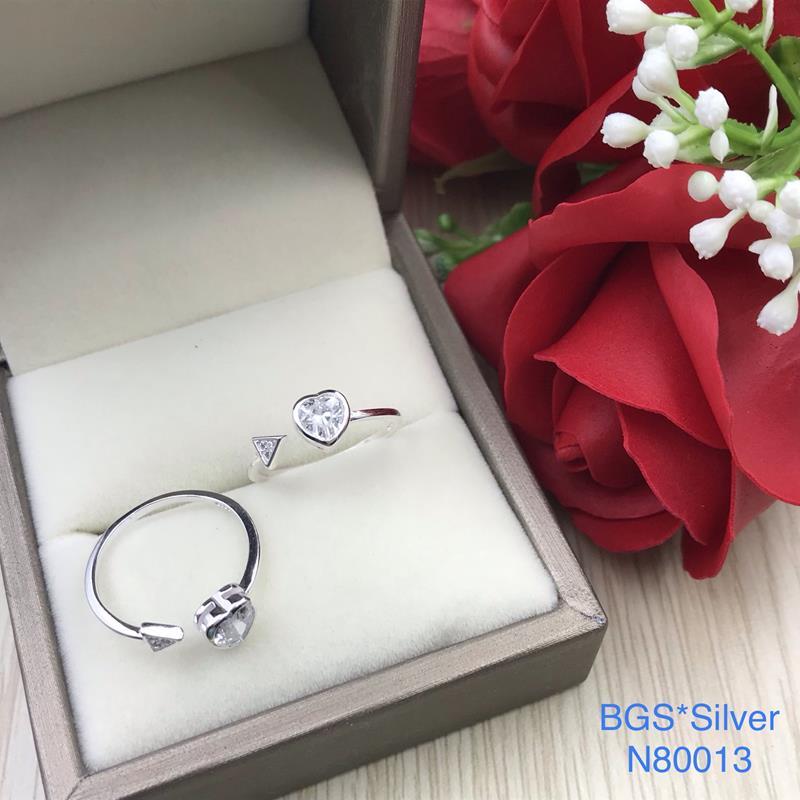 N80013 Nhẫn bạc nữ cao cấp đẹp độc lạ HCM (Freesize)
