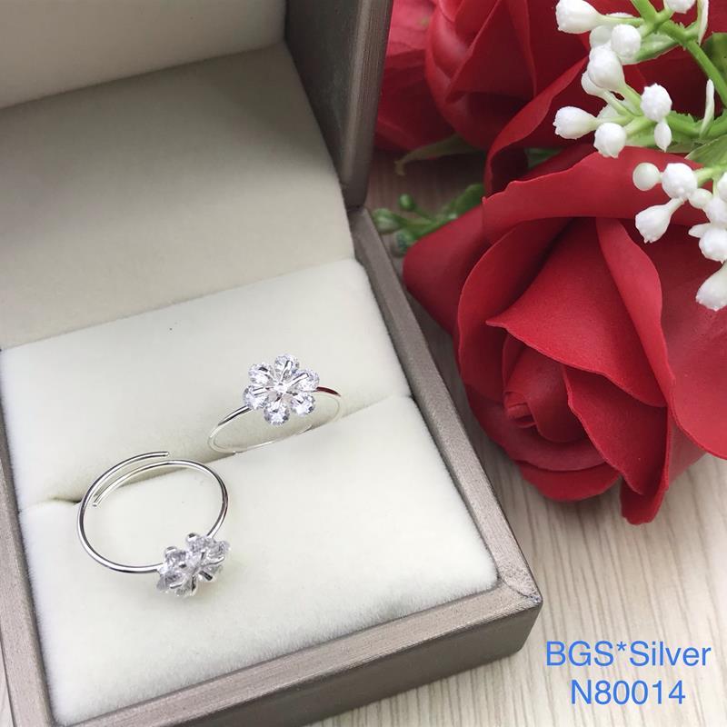 N80014 Nhẫn bạc nữ cao cấp đẹp độc lạ HCM (Freesize)