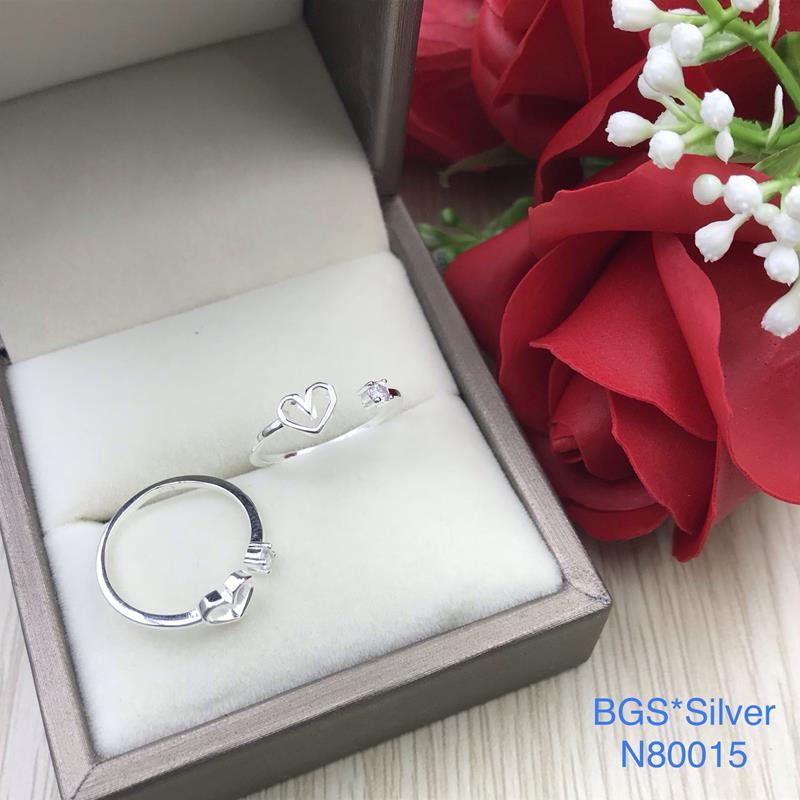N80015 Nhẫn bạc nữ cao cấp đẹp độc lạ HCM (Freesize)