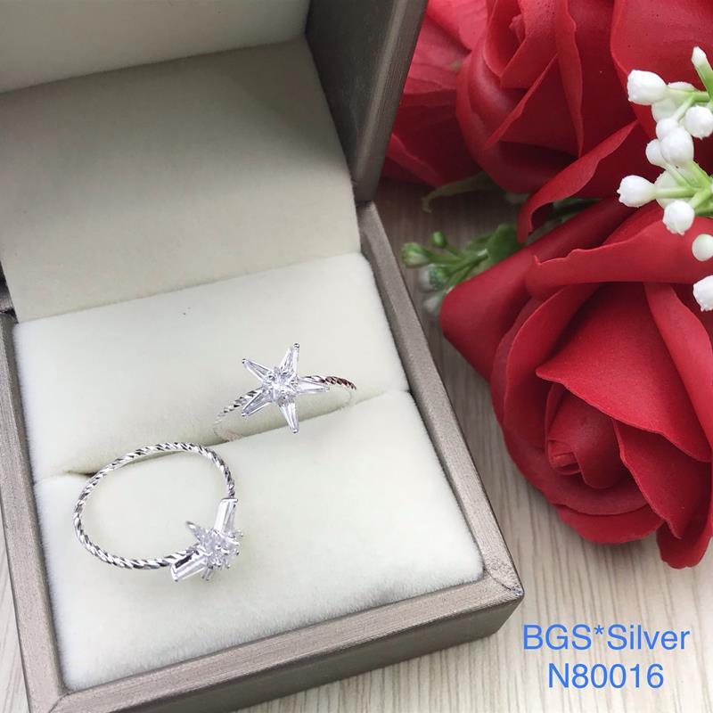 N80016 Nhẫn bạc nữ cao cấp đẹp độc lạ HCM