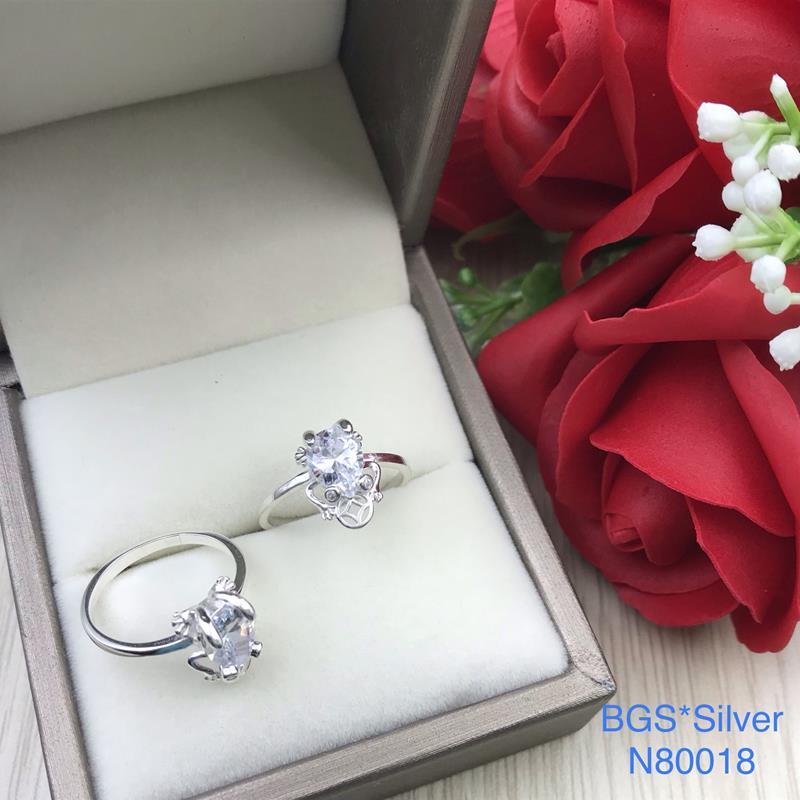 N80018 Nhẫn bạc nữ cao cấp đẹp độc lạ HCM