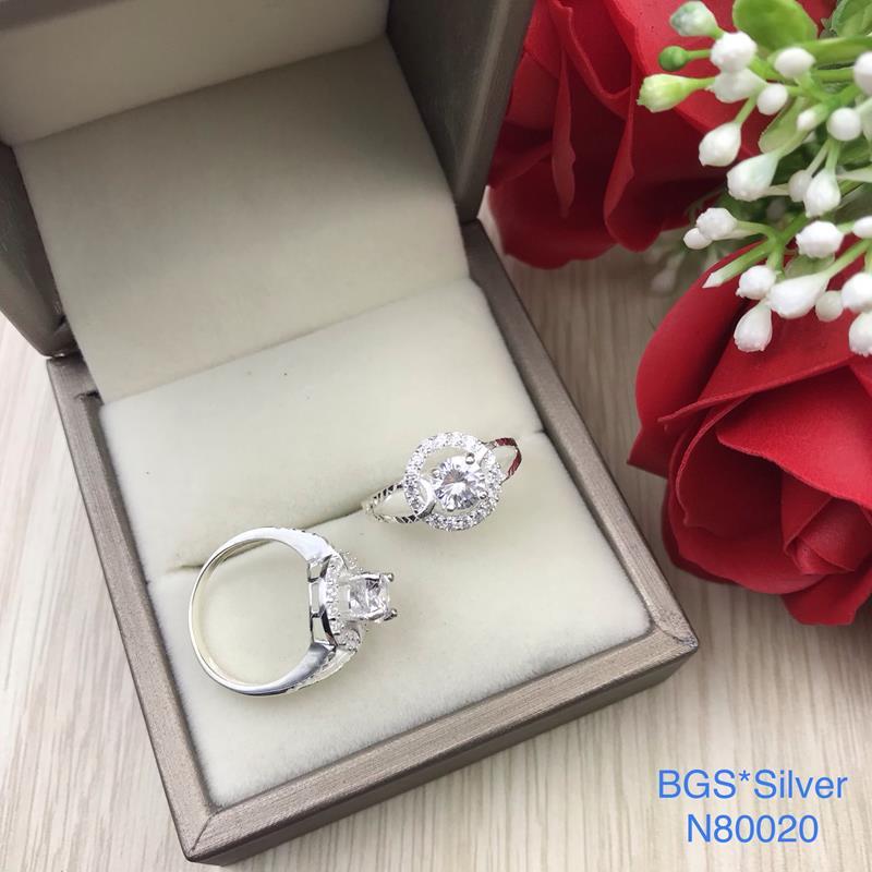 N80020 Nhẫn bạc nữ cao cấp đẹp độc lạ HCM