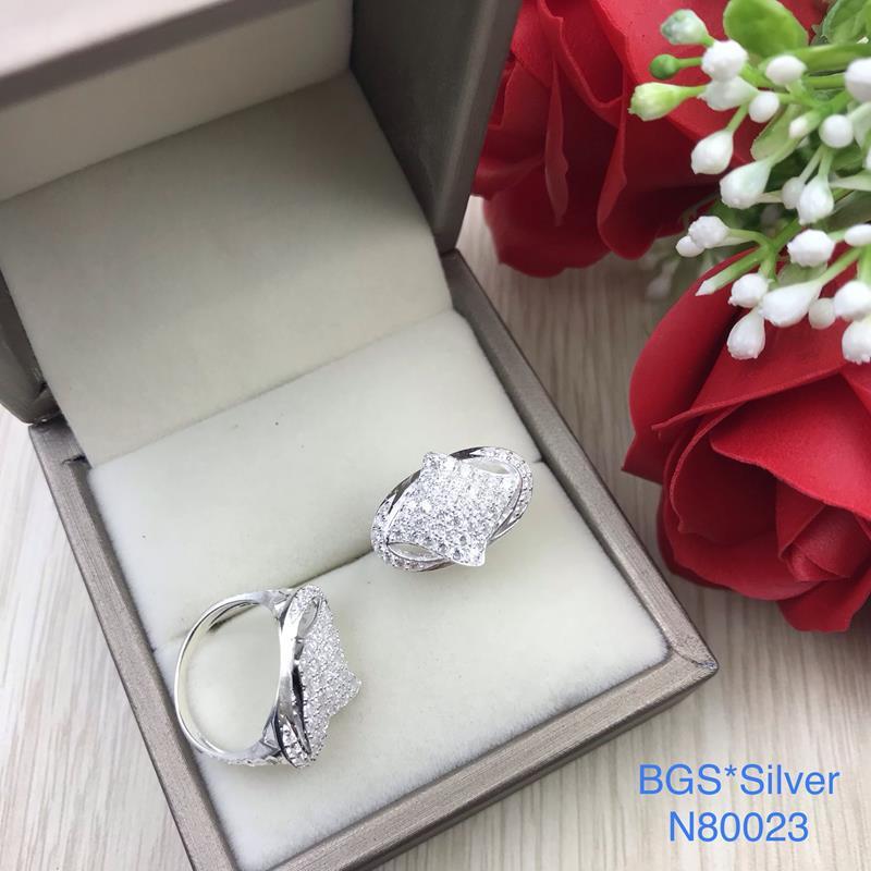 N80023 Nhẫn bạc nữ cao cấp đẹp độc lạ HCM