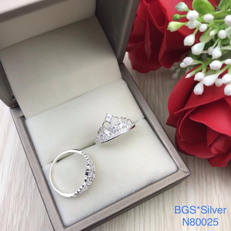 N80025 Nhẫn bạc nữ cao cấp đẹp độc lạ HCM