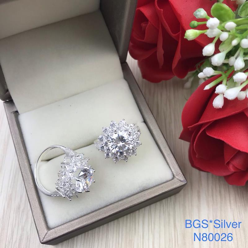 N80026 Nhẫn bạc nữ cao cấp đẹp độc lạ HCM