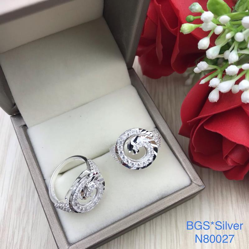 N80027 Nhẫn bạc nữ cao cấp đẹp độc lạ HCM