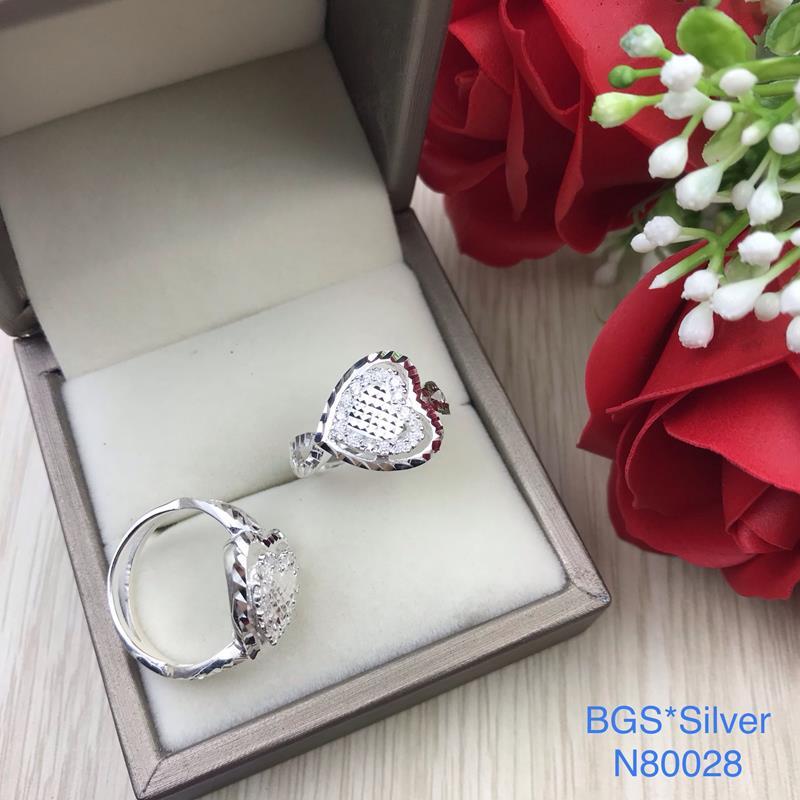 N80028 Nhẫn bạc nữ cao cấp đẹp độc lạ HCM