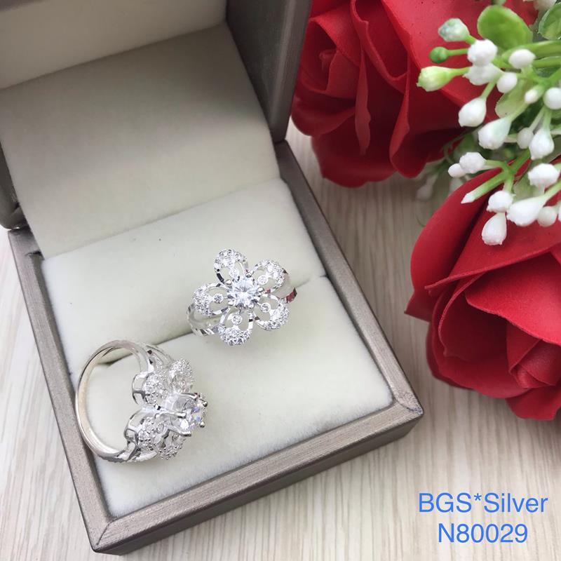 N80029 Nhẫn bạc nữ cao cấp đẹp độc lạ HCM