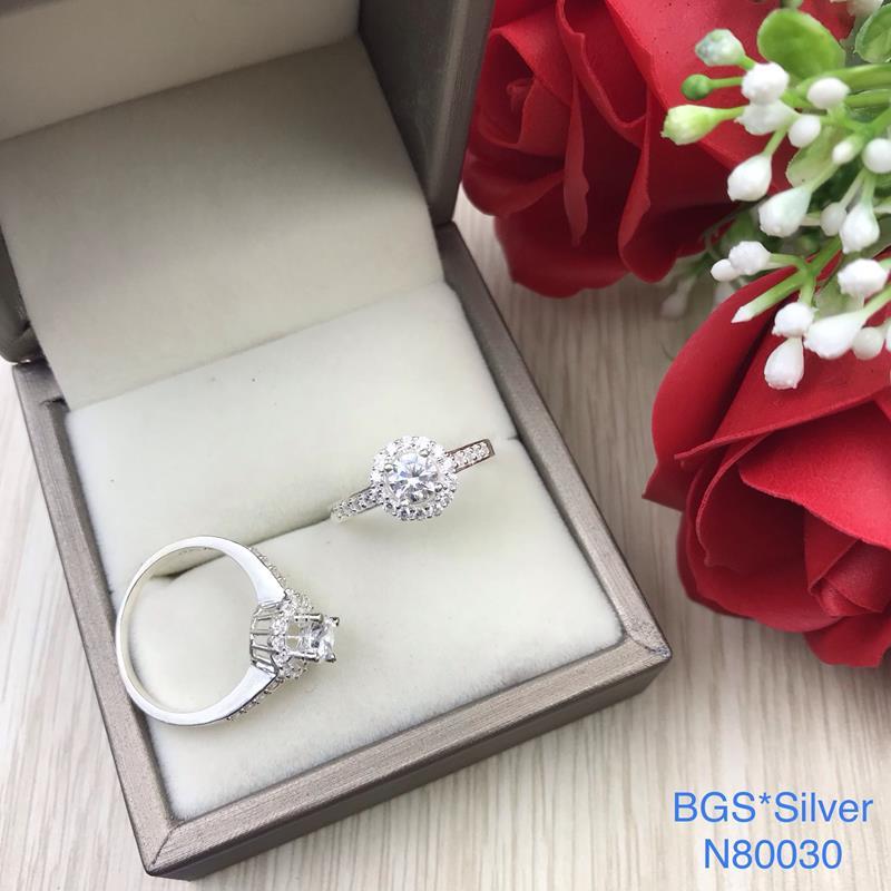 N80030 Nhẫn bạc nữ cao cấp đẹp độc lạ HCM (SIZE 16)