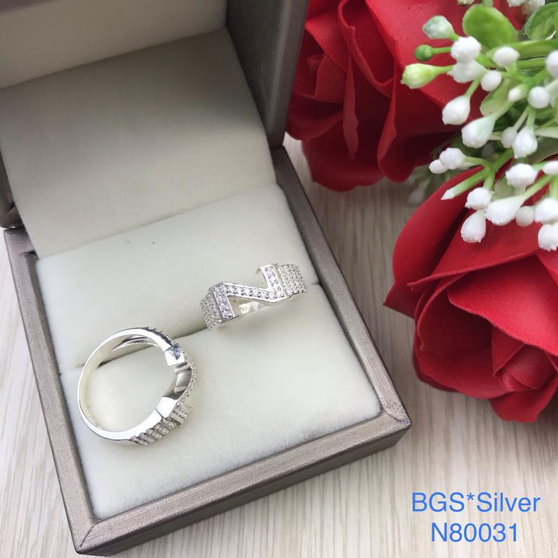 N80031 Nhẫn bạc nữ cao cấp đẹp độc lạ HCM
