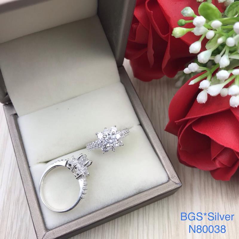 N80038 Nhẫn bạc nữ cao cấp đẹp độc lạ HCM
