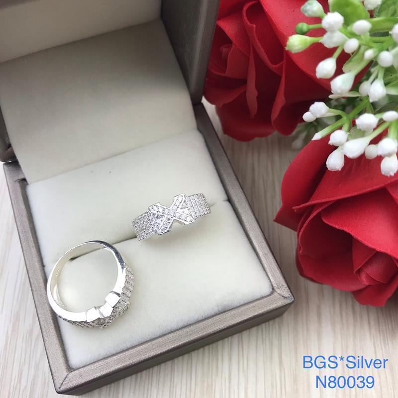 N80039 Nhẫn bạc nữ cao cấp đẹp độc lạ HCM