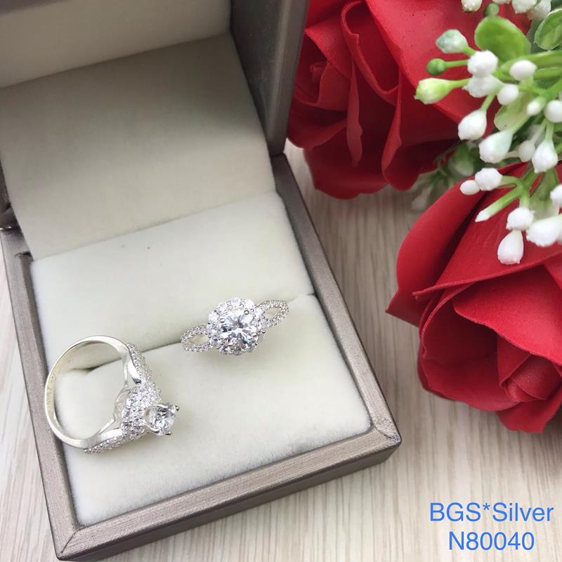 N80040 Nhẫn bạc nữ cao cấp đẹp độc lạ HCM