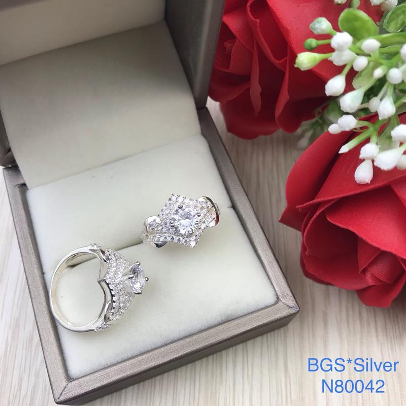 N80042 Nhẫn bạc nữ cao cấp đẹp độc lạ HCM