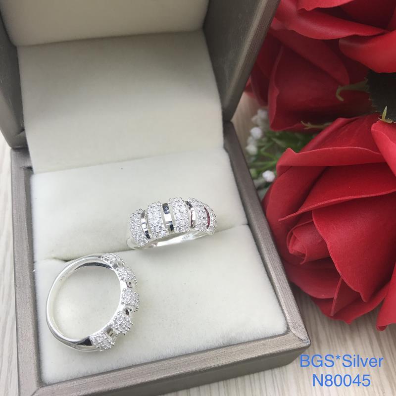 N80045 Nhẫn bạc nữ cao cấp đẹp độc lạ HCM