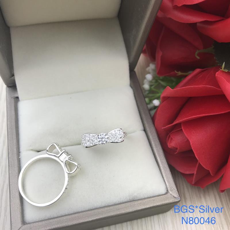 N80046 Nhẫn bạc nữ cao cấp đẹp độc lạ HCM