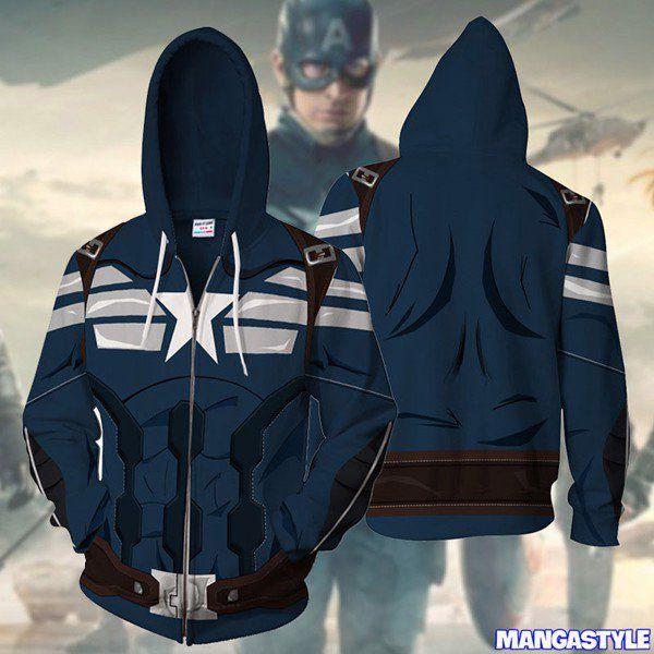 Áo Khoác 3D Captain America