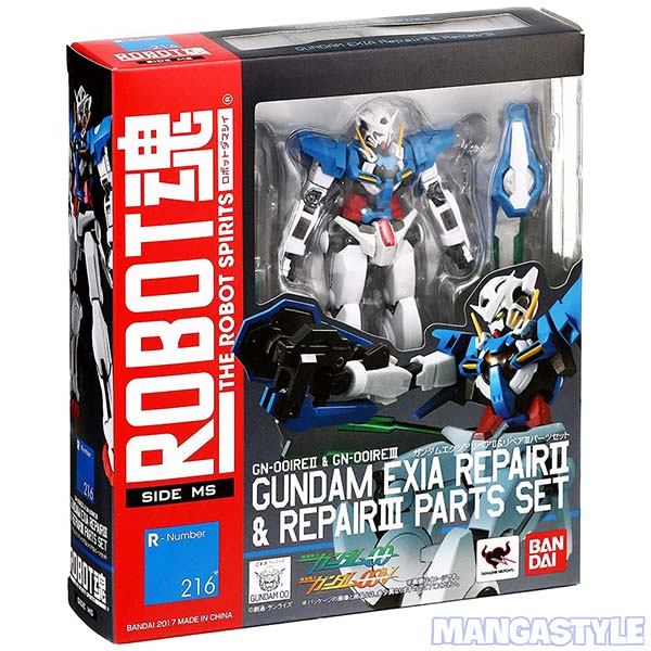 Mô Hình Bandai Robot Spirits Side MS Gundam Exia Repair II & III Parts