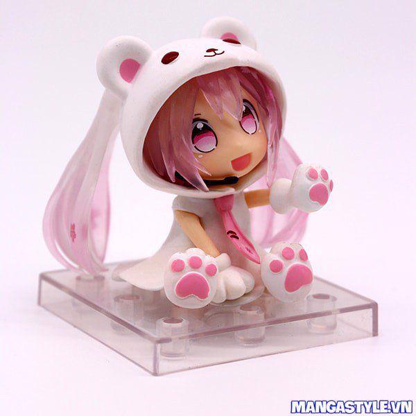 Chibi Figure Snow Miku Bear