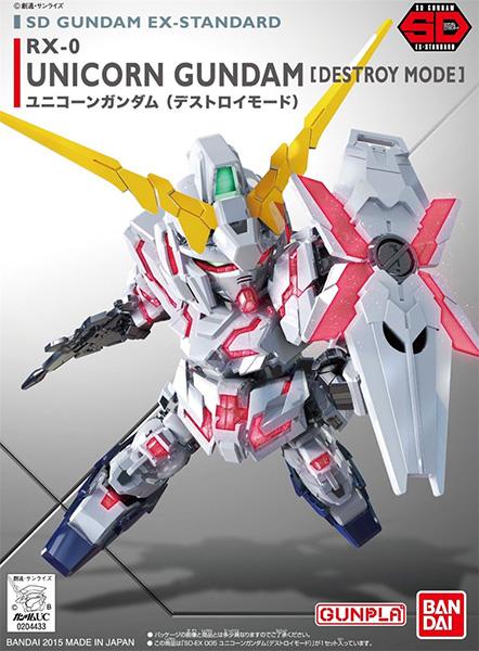 Mô Hình Gundam SD EX-Standard Unicorn Gundam (Destroy Mode)