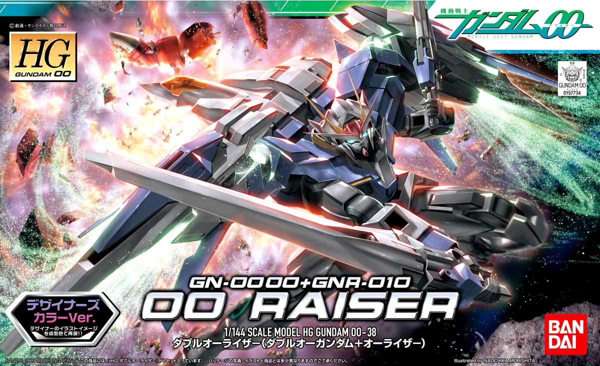 Mô Hình HG00 00 Raiser (00 Gundam + 0 Raiser) Designers Color Ver.