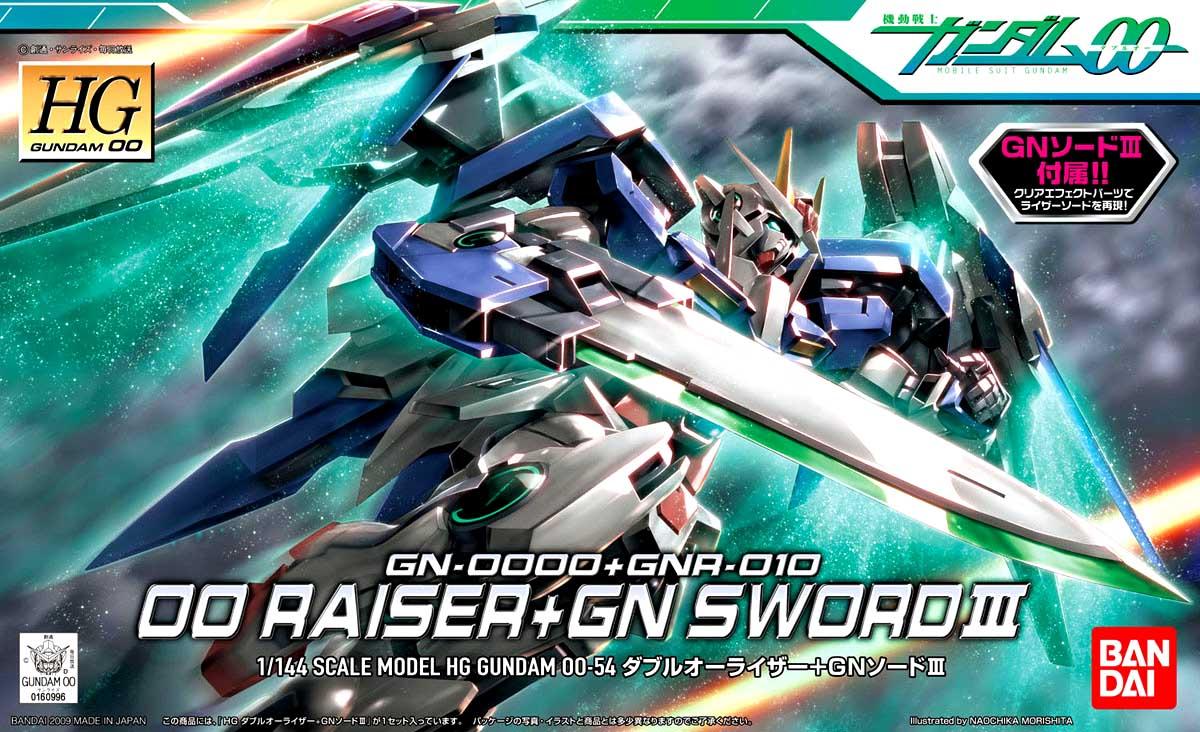 Mô Hình HG00 GN-0000+GNR-010 00 Raiser + GN Sword III