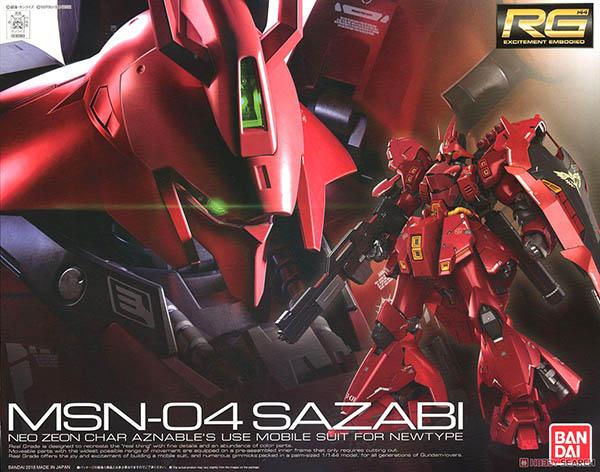 Mô Hình RG MSN-04 Sazabi