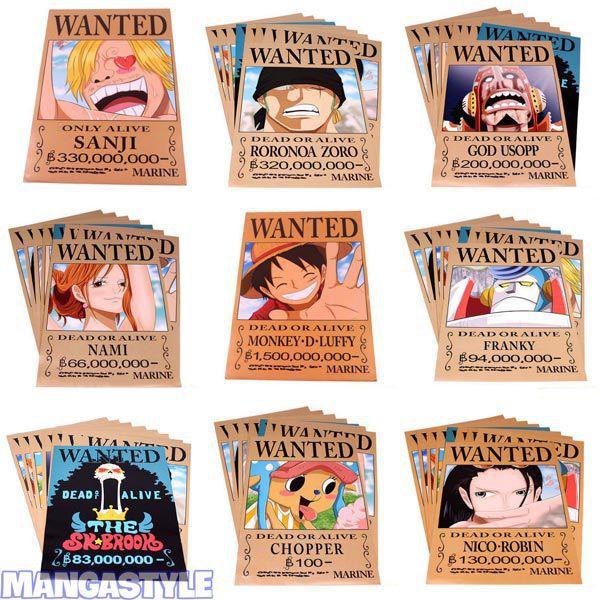 Poster Wanted Băng Mũ Rơm