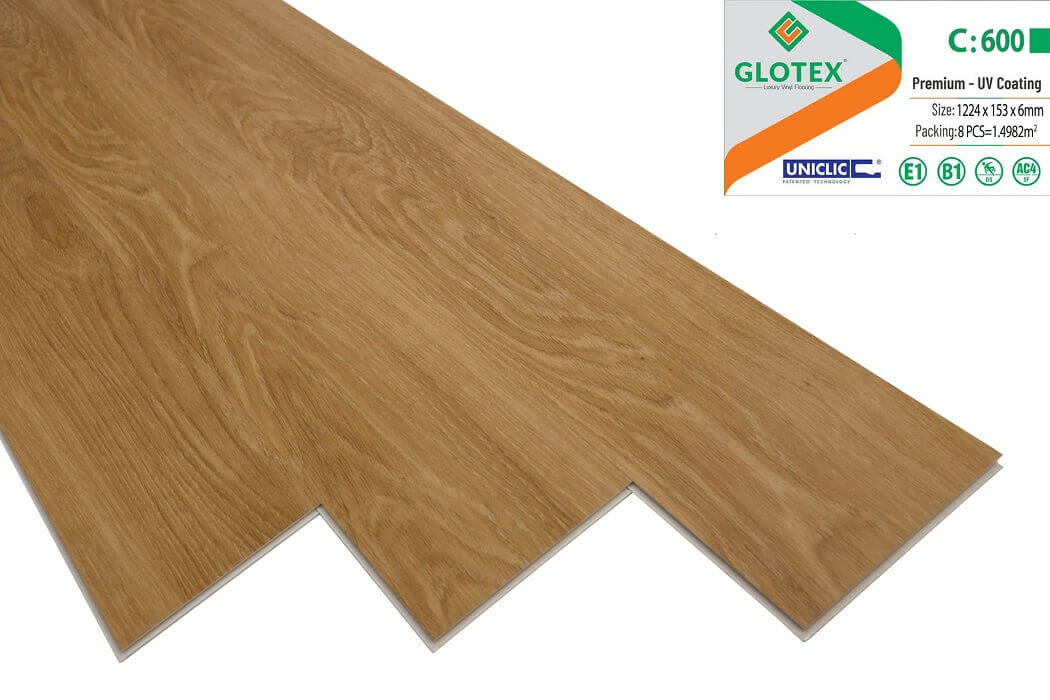 Sàn nhựa hèm khóa Glotex 6mm - C600