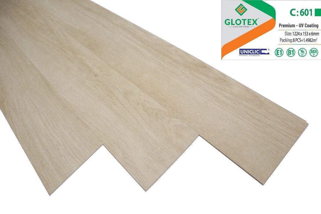 Sàn nhựa hèm khóa Glotex 6mm - C601