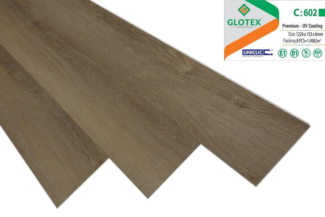 Sàn nhựa hèm khóa Glotex 6mm - C602