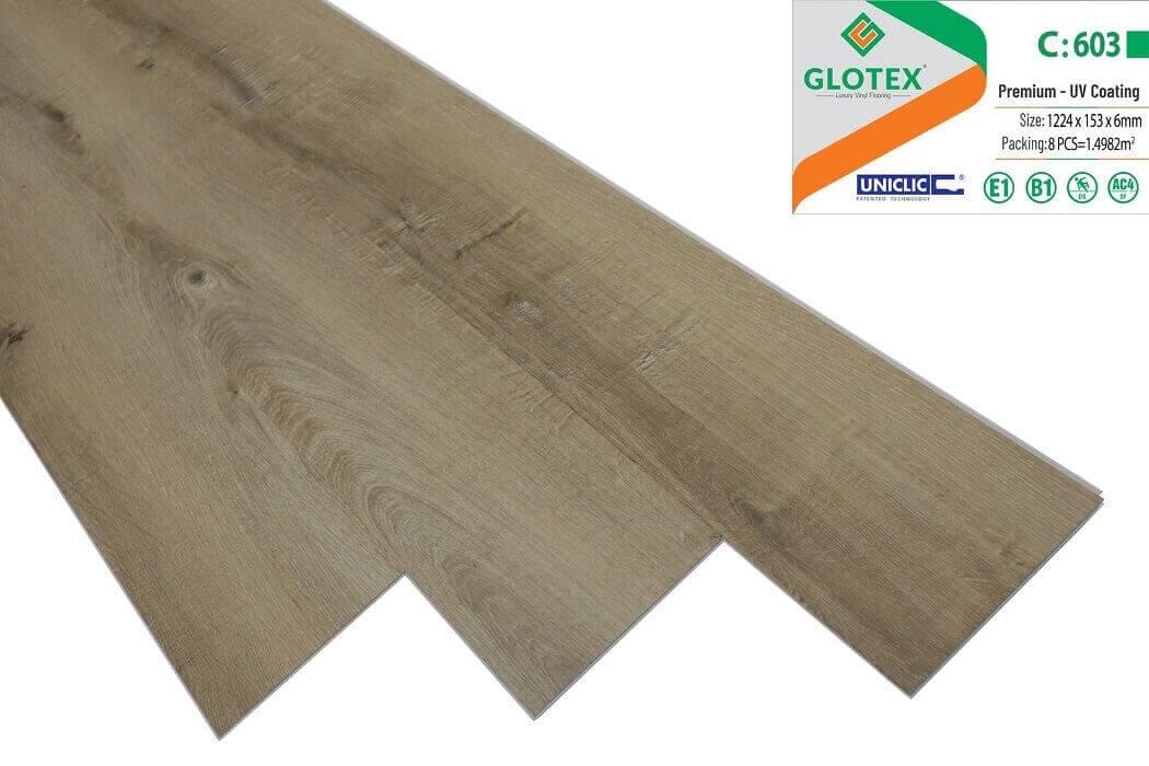 Sàn nhựa hèm khóa Glotex 6mm - C603