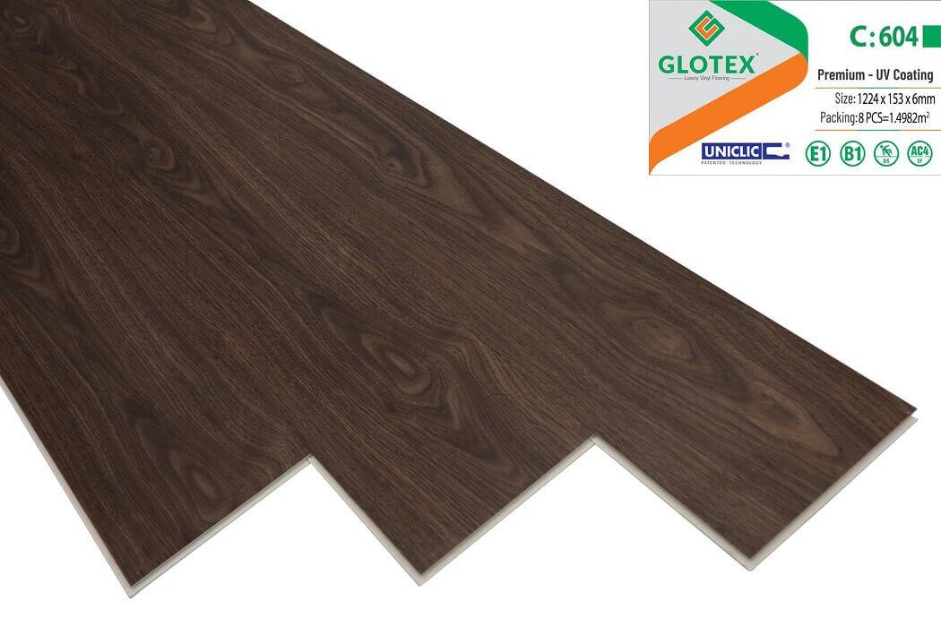 Sàn nhựa hèm khóa Glotex 6mm - C604