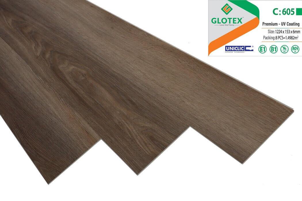 Sàn nhựa hèm khóa Glotex 6mm - C605