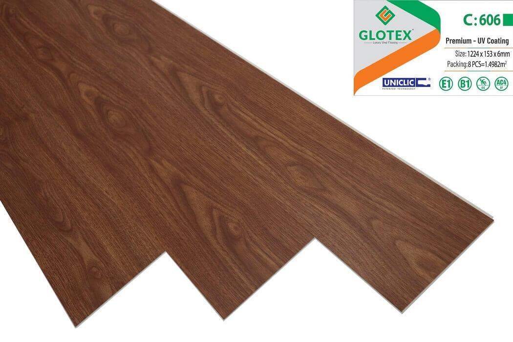Sàn nhựa hèm khóa Glotex 6mm - C606