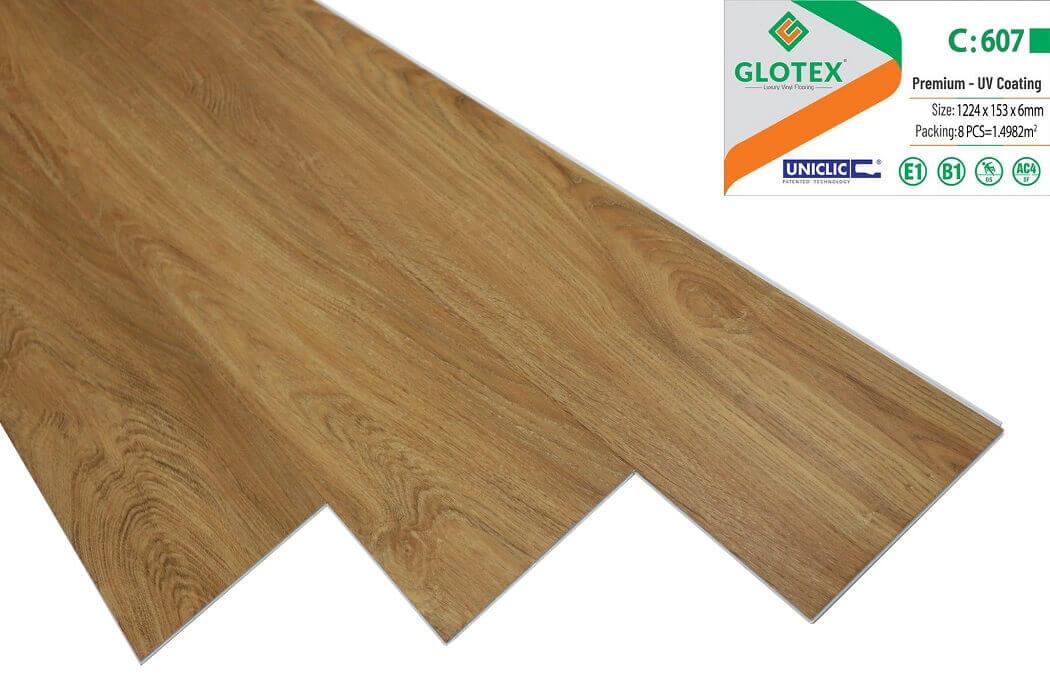 Sàn nhựa hèm khóa Glotex 6mm - C607
