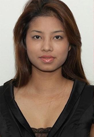 Hình ảnh Phạm Hương năm 2010 khi thi Vietnam Next top model