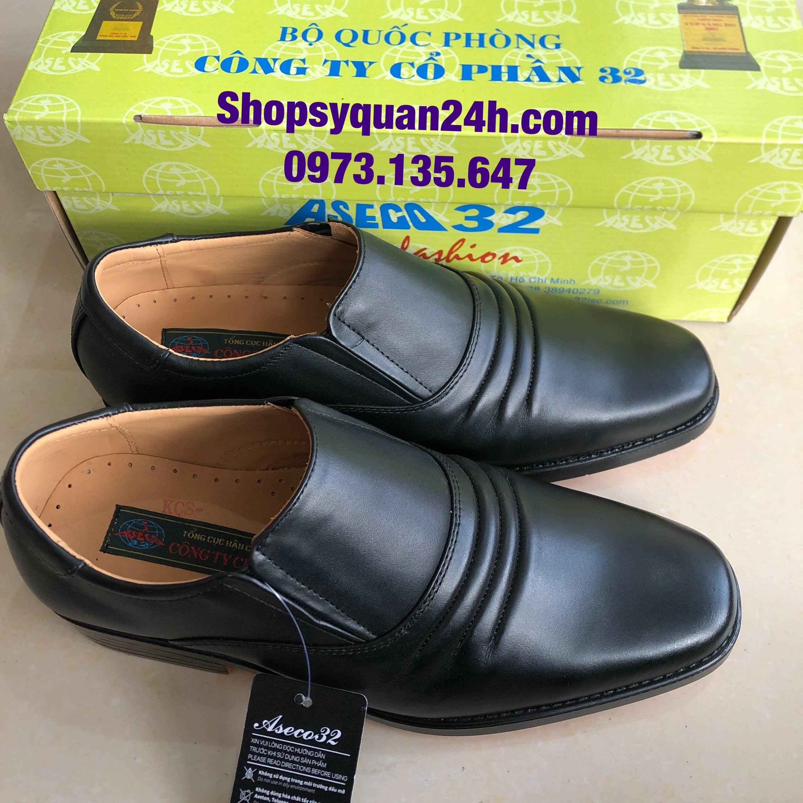Giày Da Công Sở 3 Sọc Mã 32-FFM-714 (ĐEN)