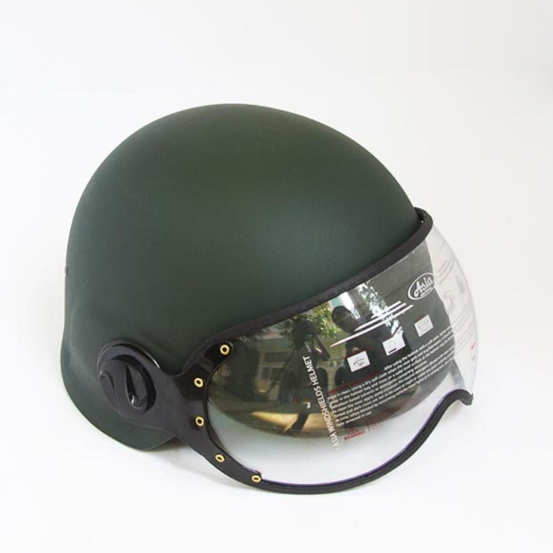 Mũ Bảo Hiểm Quân Đội Có Kính