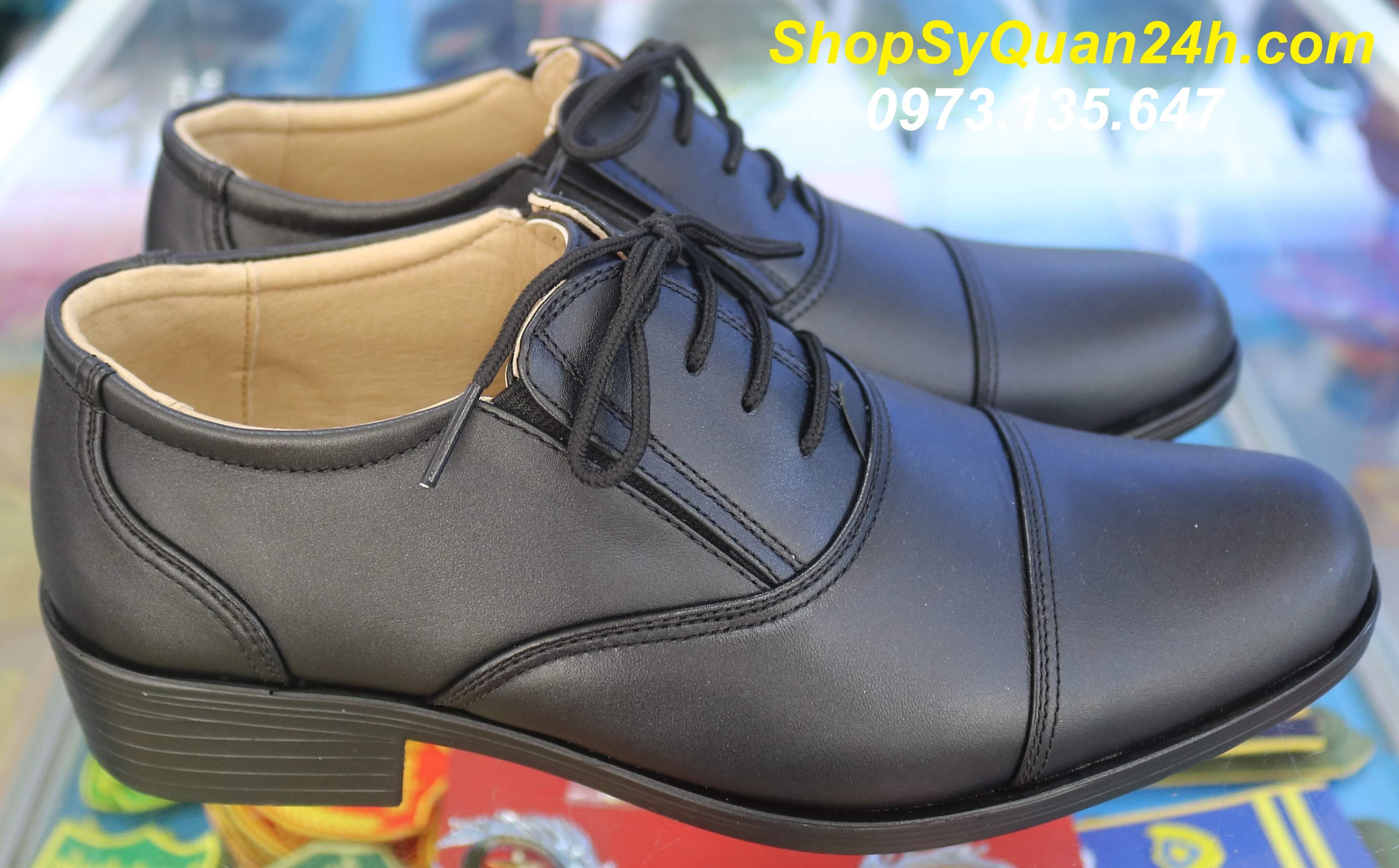 Giày Sỹ Quan Cấp Tướng Công An Mã PN11 Công ty 19/5 BCA