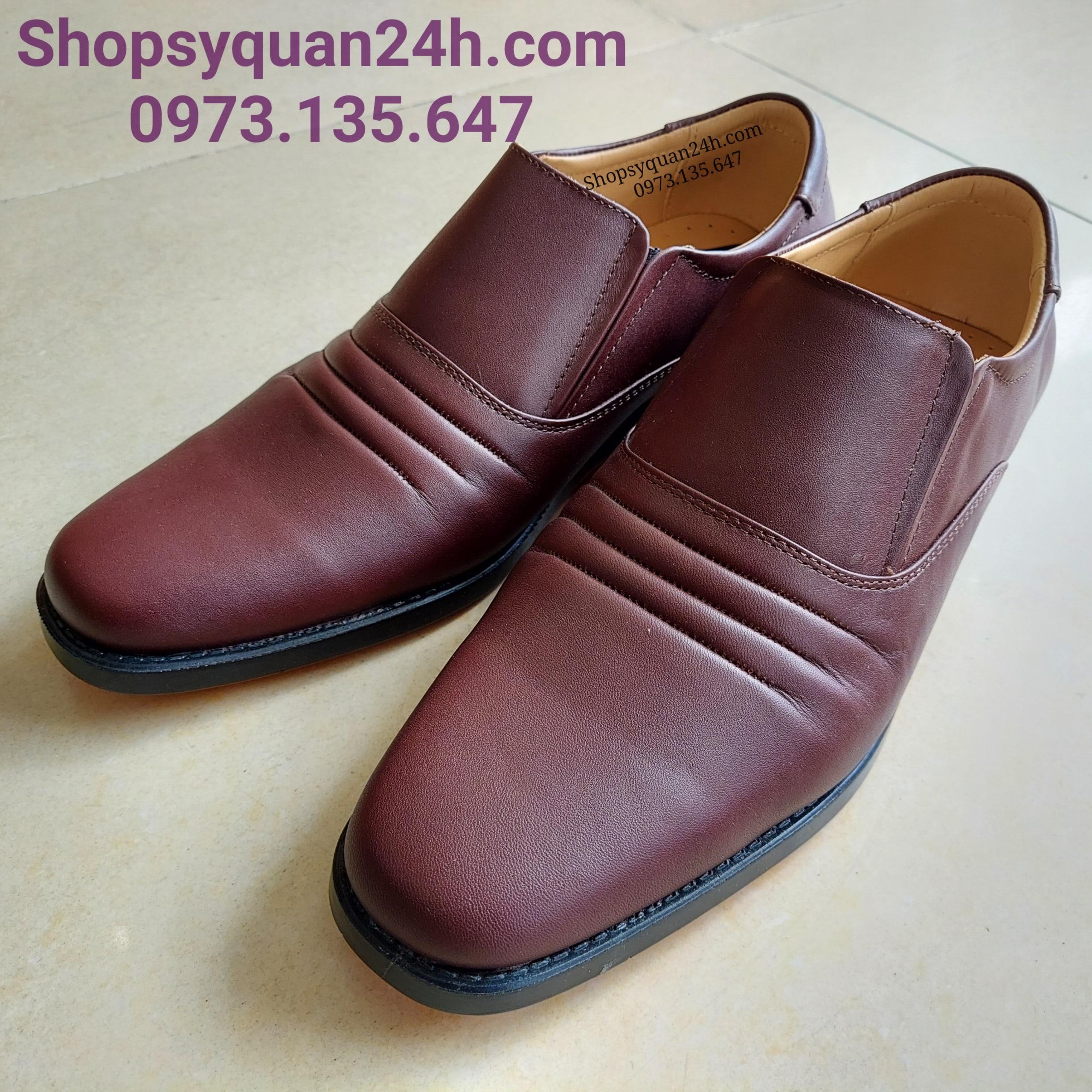 Giày Da Công Sở 3 Sọc Mã 32-FFM-714 (NÂU)