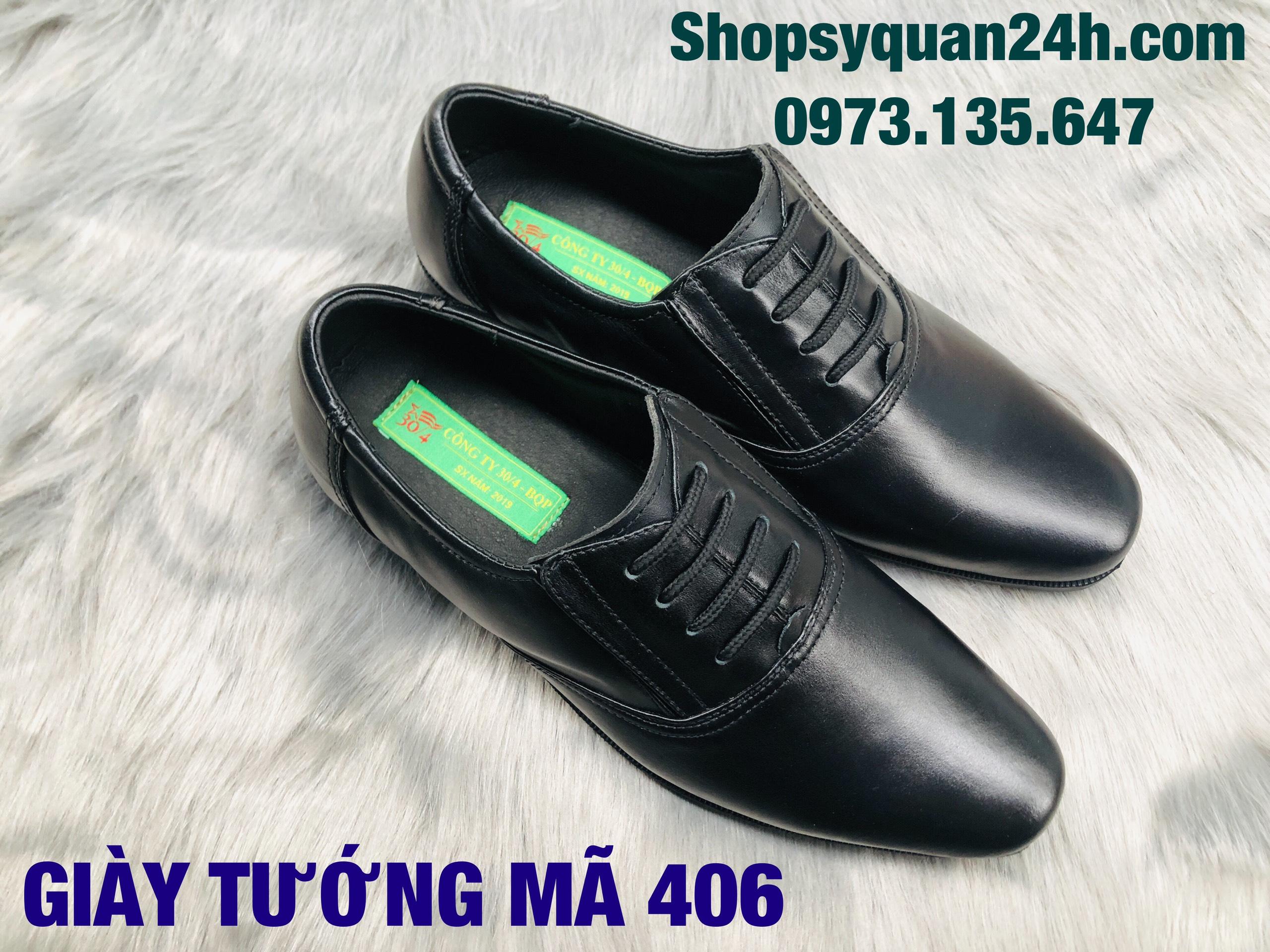 Giày Da Cấp Tướng Mã 406