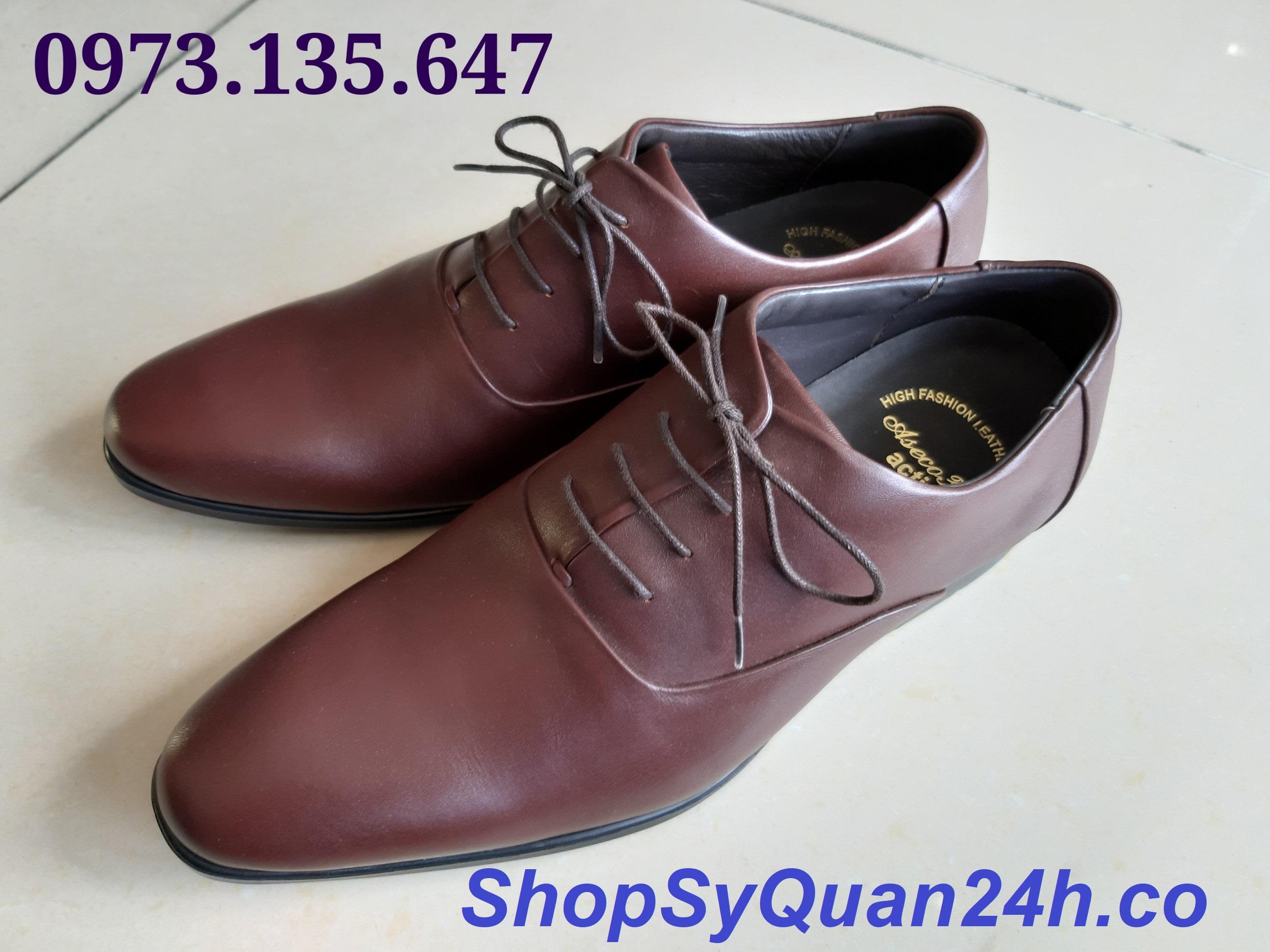Giày Da Công Sở Mã 32M- 809  Nâu