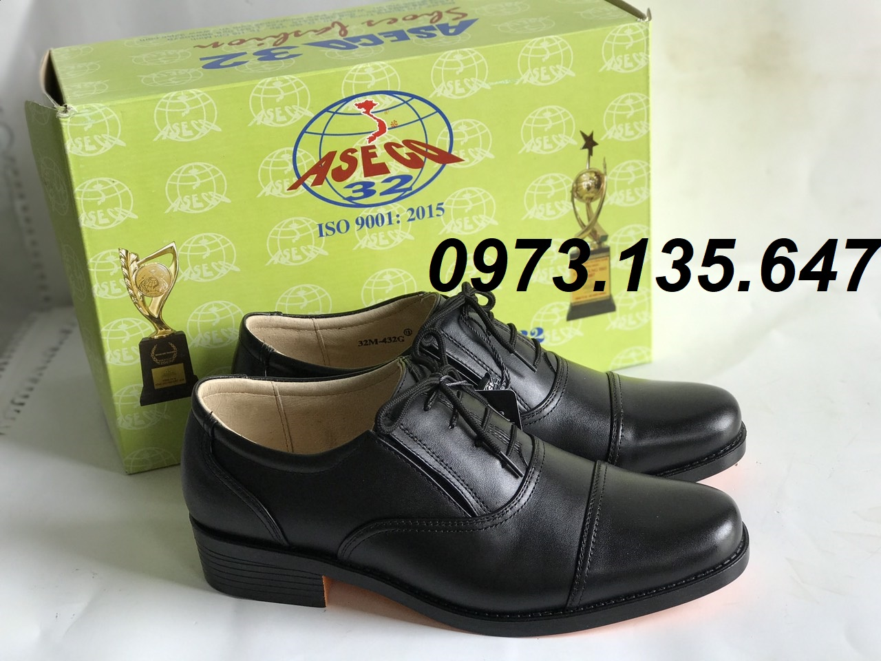 Giày Da Nam ASECO32 Mã 32M- 432G