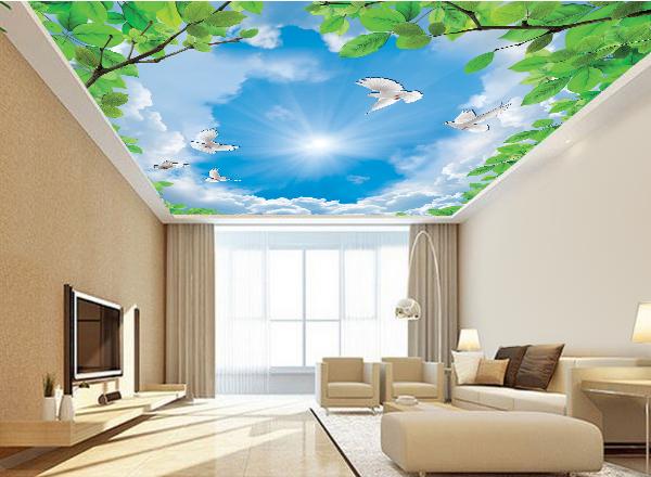Tranh 3d trần nhà - MS124